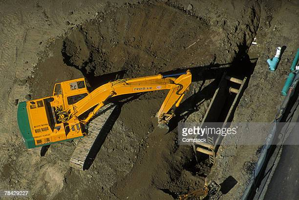 Construction site or mining operation