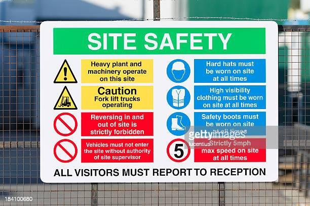 Baustelle Sicherheit Schild