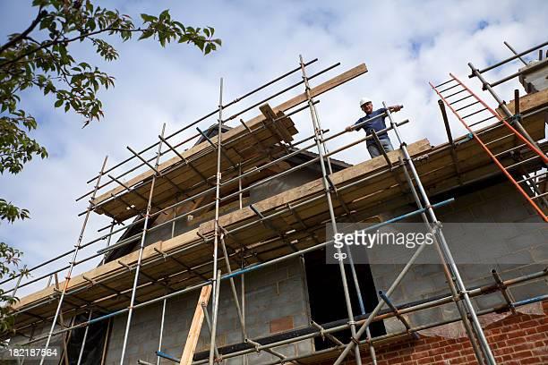 Chantier de Construction Scaffolded Gable