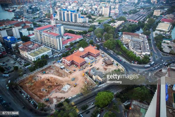 A construction site stands amid buildings in the Fort area of Colombo Sri Lanka on Friday April 21 2017 Once fought over by European powers Sri Lanka...