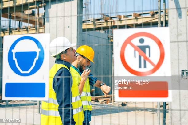 Baustelle Warnung Zeichen