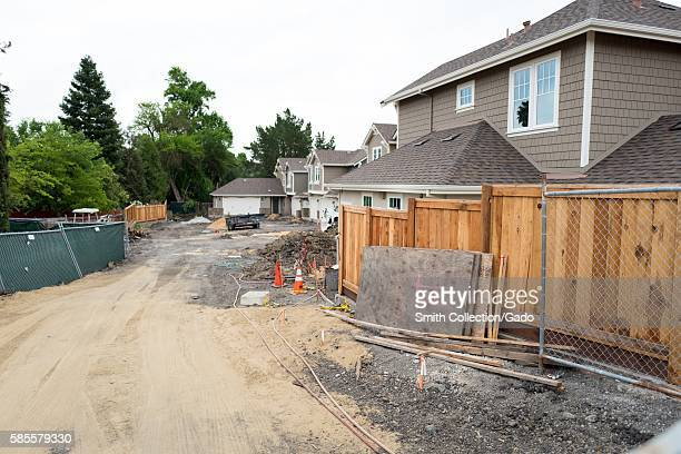 Construction site with new homes in the process of being built in the San Francisco Bay Area town of Danville California June 5 2016 Due to a low...