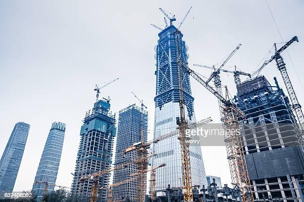 Construction sites in Beijing guomao