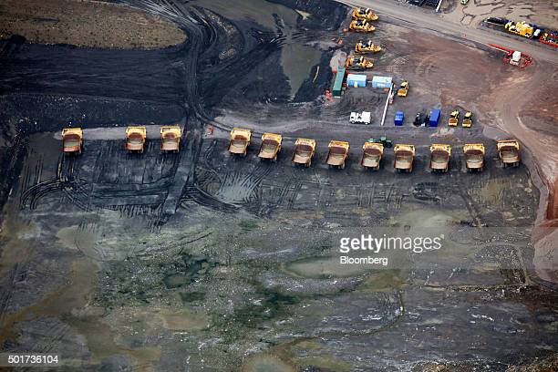 Construction vehicles stand on site at Hinkley Point near Bridgwater UK on Thursday Dec 17 2015 Electricite de France SA and China General Nuclear...