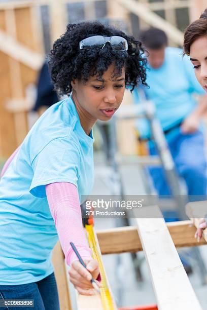 Construction volunteer measures board