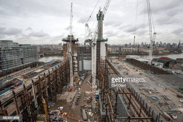 Construction work continues at Battersea Power station on March 1 2017 in London England The decommissioned coalfired power station is being...