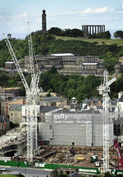 Construction work continues on the Holyrood parliament in Edinburgh Scotland's Auditor General Robert Black presented his report on the new building...
