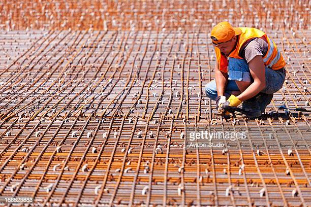 Construction worker and concrete reinforcement