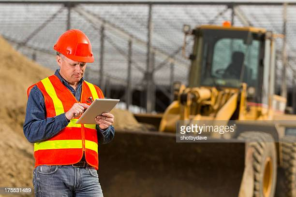 Construction Worker and PC