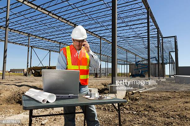 Construction Worker and Technology