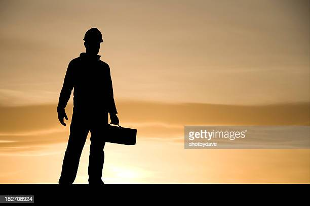 Construction Worker at Dawn