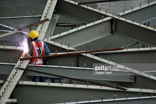 Construction worker in Hong Kong
