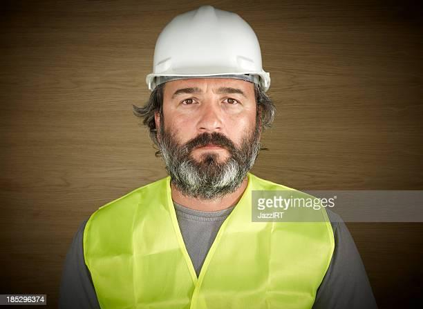 Operaio edile in bianco Cappello rigido