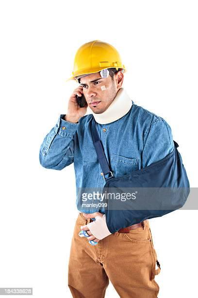 Bauarbeiter verletzte und am Telefon