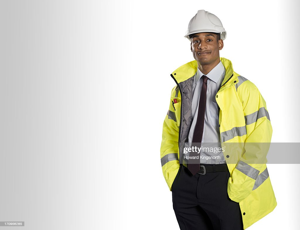construction worker looking to camera