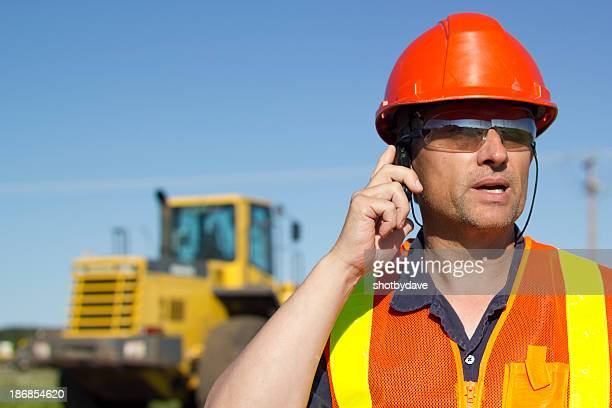 Construction Worker on Cellphone