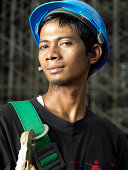 Construction worker, portrait