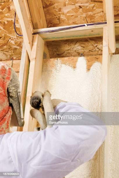 Construction Travailleur Asperger extensible Isolation de mousse entre crampons mur