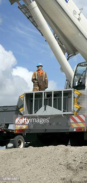 Large Standing Cranes Stencil: Crane Operator Stock Photos And Pictures