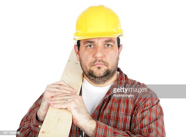 Construction Worker with 2x4