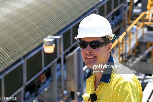 Construction Worker with hard hat