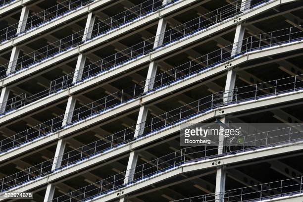 A construction worker works on site of commercial building 100 Bishopsgate in the City of London UK on Monday Nov 13 2017 Investors spent 125 billion...