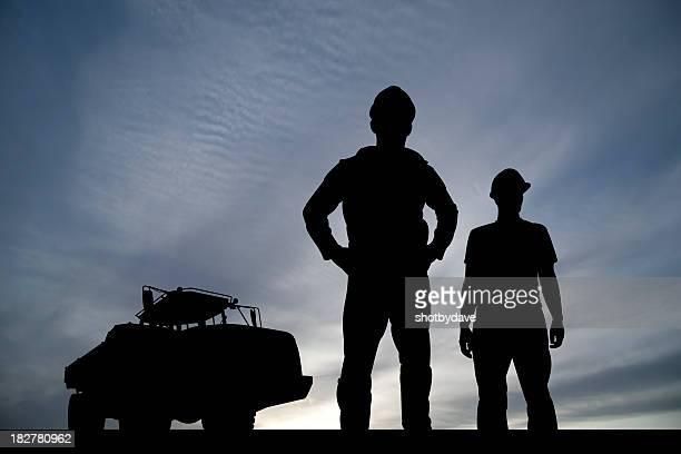 Les ouvriers et camion