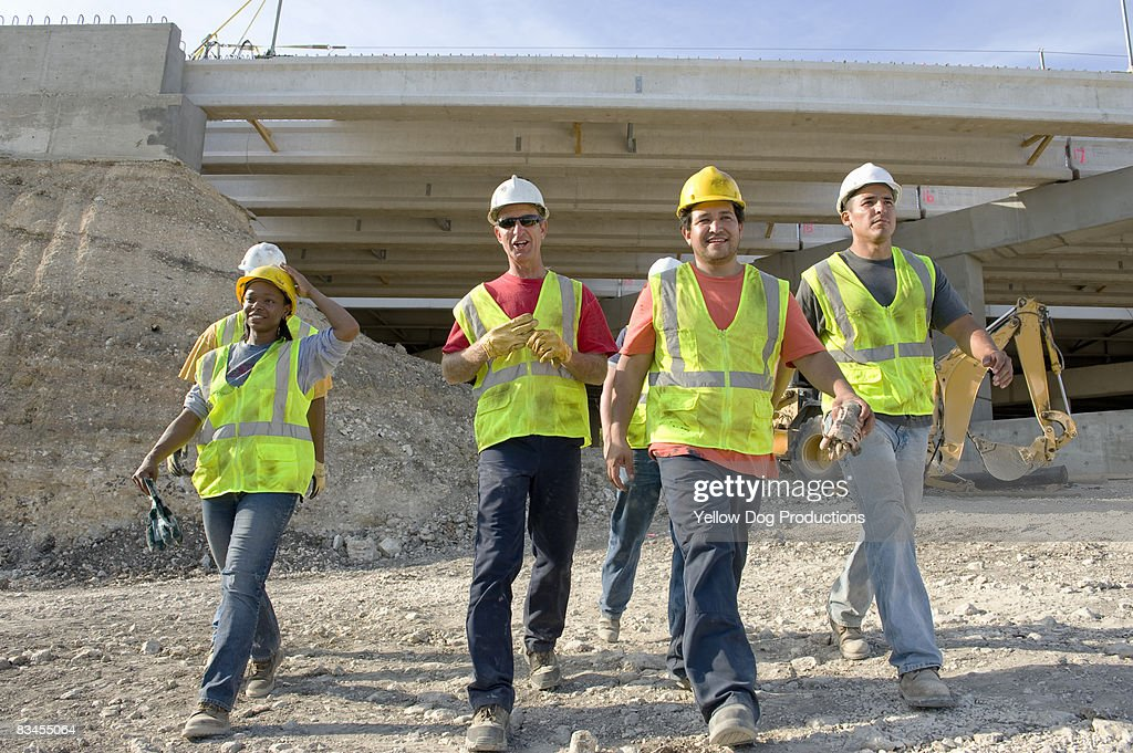 Construction Workers at the End of the Day