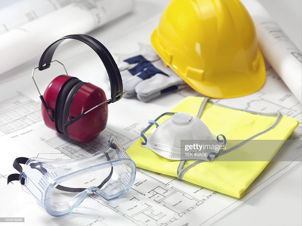 Construction worker's safety equipment
