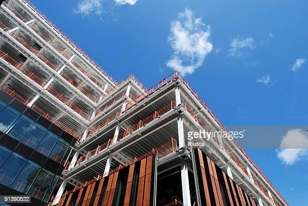 Bauten und moderne Gebäude und Wolkenkratzer