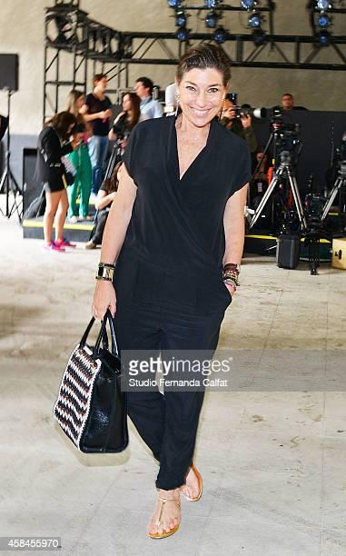 Consuelo Pascolato attends the ELLUS fashion show during Sao Paulo Fashion Week Winter 2015 at the Praca das Artes on November 5 2014 in Sao Paulo...