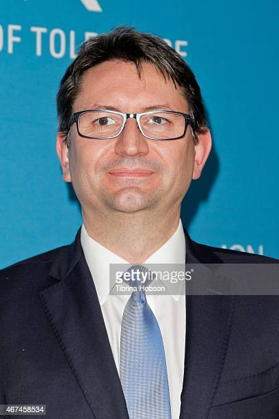 Consul general of France Axel Cruau attends the Simon Wiesenthal Center's national tribute dinner at The Beverly Hilton Hotel on March 24 2015 in...
