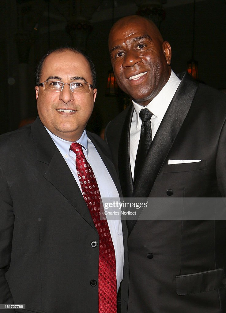 Consul General of Israel in New York Ido Aharoni and Earvin 'Magic' Johnson attend 2013 Multicultural Gala: An Evening Of Many Cultures at Metropolitan Museum of Art on September 23, 2013 in New York City.