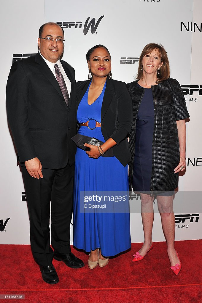 Consul General of Israel in New York Ido Aharoni, Ava DuVernay, and <a gi-track='captionPersonalityLinkClicked' href=/galleries/search?phrase=Jane+Rosenthal&family=editorial&specificpeople=202835 ng-click='$event.stopPropagation()'>Jane Rosenthal</a> attend the 'Venus Vs.' and 'Coach' screenings at the Paley Center For Media on June 24, 2013 in New York City.