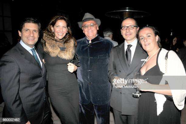 Consul General of Italy Francesco Talo Melba Ruffo di Calabria Renzo Arbore Paolo Torello Viera and Federica Torello Viera attend Cocktail Event...