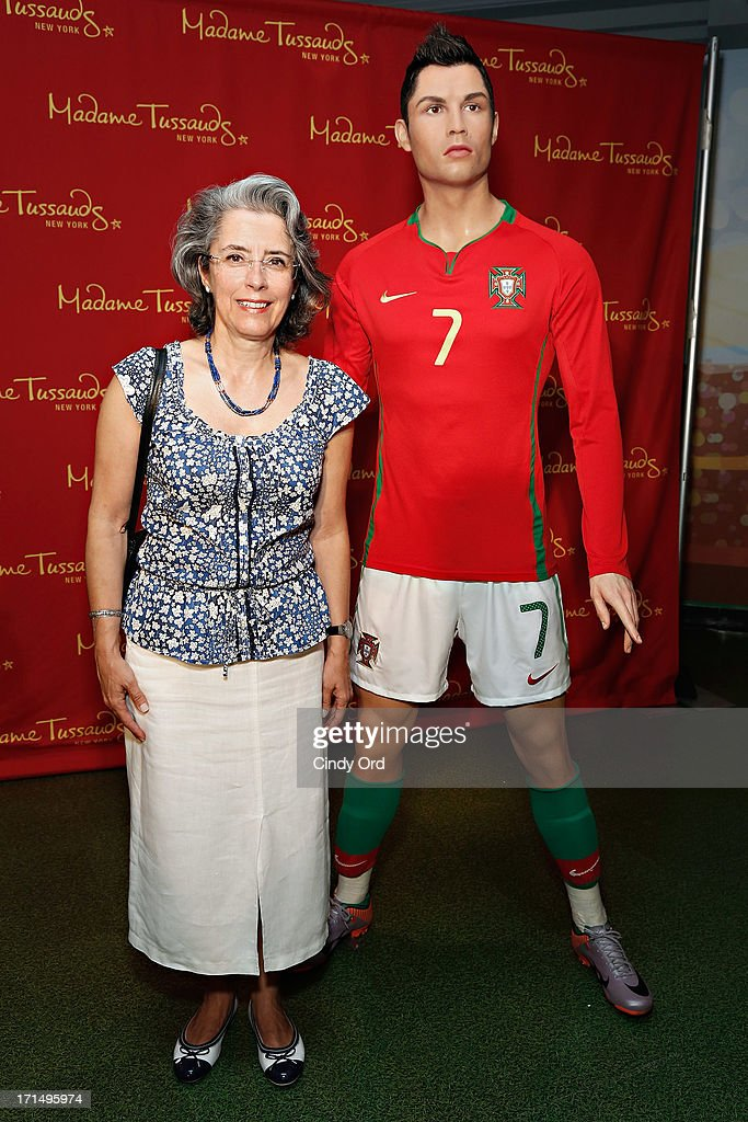Consul General of Portugal, Dr. Maria Amelia Paiva (L) attends as Madame Tussauds New York launches a <a gi-track='captionPersonalityLinkClicked' href=/galleries/search?phrase=Cristiano+Ronaldo+-+Calciatore&family=editorial&specificpeople=162689 ng-click='$event.stopPropagation()'>Cristiano Ronaldo</a> wax figure on June 25, 2013 in New York City.