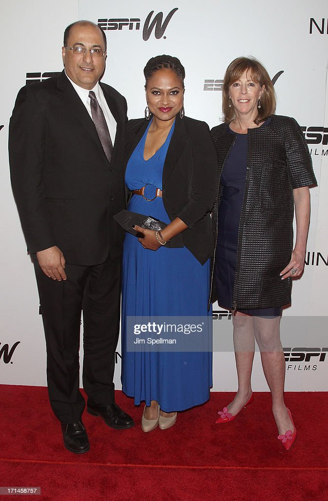Consulate General of Israel in New York Ido Aharoni, Director Ava DuVernay and producer <a gi-track='captionPersonalityLinkClicked' href=/galleries/search?phrase=Jane+Rosenthal&family=editorial&specificpeople=202835 ng-click='$event.stopPropagation()'>Jane Rosenthal</a> attend 'Venus Vs.' and 'Coach' New York Special Screening at Paley Center For Media on June 24, 2013 in New York City.