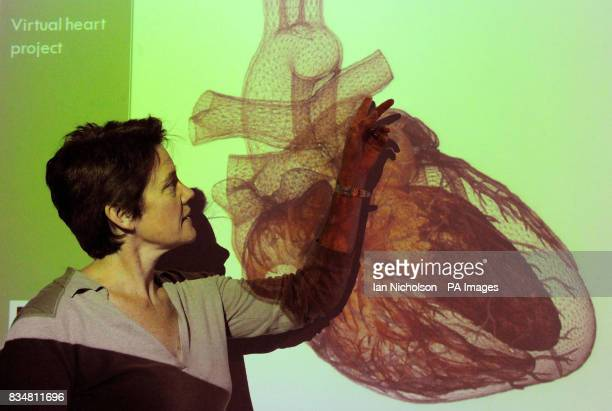 Consultant anaesthetist Dr Sue Wright presents HeartWorks the first fully functioning virtual heart invented to help train cardiologists and doctors