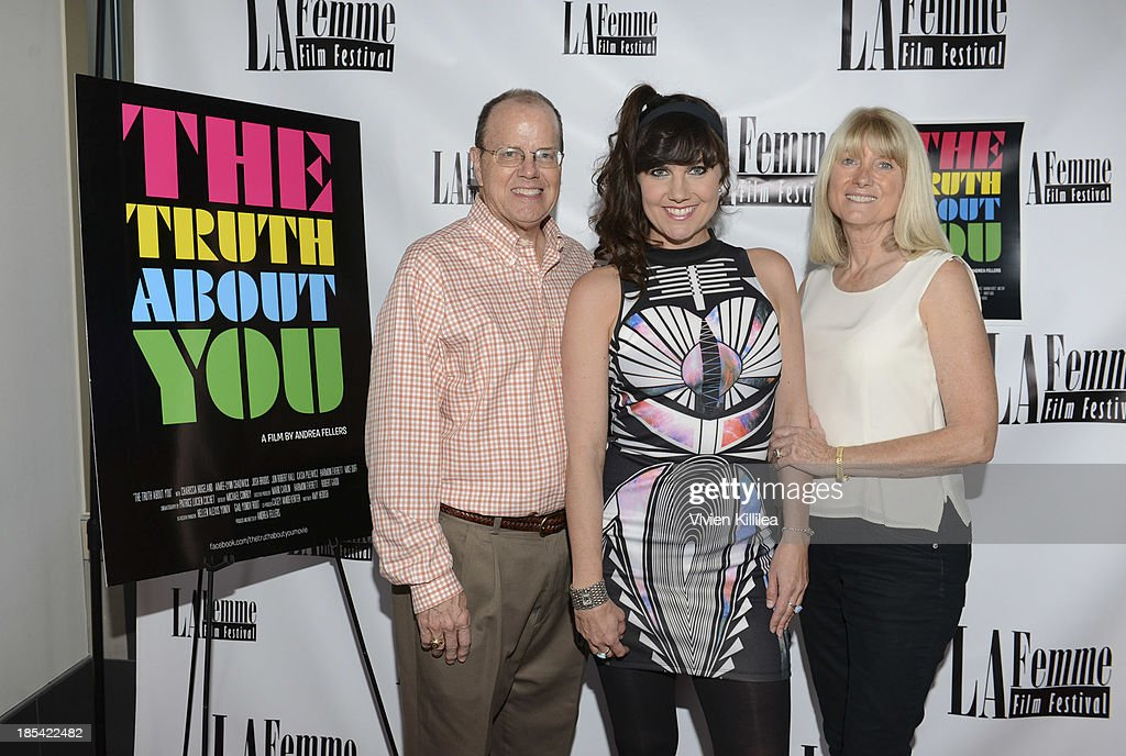 Consultant Dave Fellers, director Andrea Fellers and artist Jan Fellers attend 'The Truth About You' - Los Angeles Premiere at Regal 14 at LA Live Downtown on October 19, 2013 in Los Angeles, California.