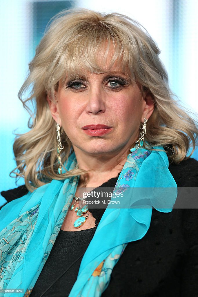 Consultant Linda Kenney Baden speaks onstage during the 'Phil Spector' panel discussion at the HBO portion of the 2013 Winter TCA Tourduring 2013 Winter TCA Tour - Day 1 at Langham Hotel on January 4, 2013 in Pasadena, California.