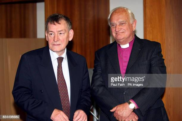 Consultative Group on the Past Co Chairman Lord Eames and former Policing Board vice chairman Denis Bradley at a press conference in Belfast