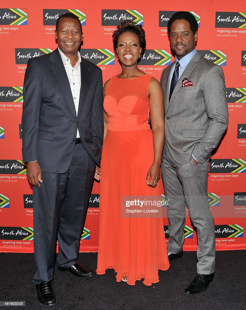 Consulting Services Deputy Chairman Zwelibanzi Mntambo, president North America of South African Tourism Sthu Zungu, and actor <a gi-track='captionPersonalityLinkClicked' href=/galleries/search?phrase=Blair+Underwood&family=editorial&specificpeople=215367 ng-click='$event.stopPropagation()'>Blair Underwood</a> attend the 2014 Ubuntu Awards at Gotham Hall on April 1, 2014 in New York City.