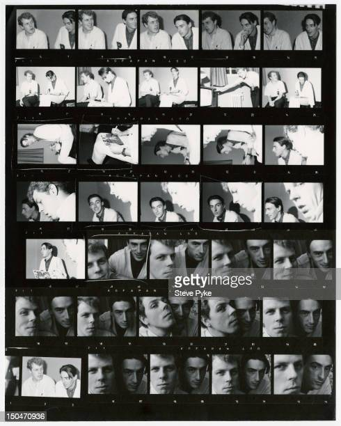 A contact sheet depicting English singersongwriter Paul Weller and keyboard player Mick Talbot in Oxford on tour with The Style Council 6th October...