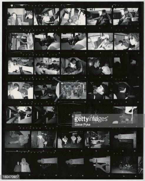 A contact sheet depicting English singersongwriter Paul Weller in Oxford on tour with his group The Style Council 6th October 1984
