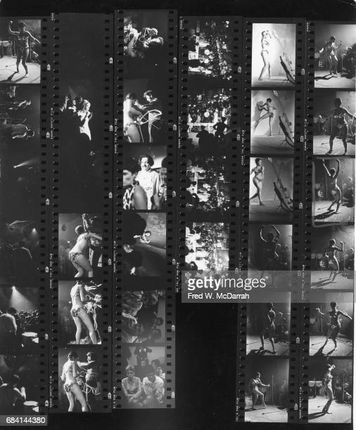 Contact sheet with scenes of opening night of Electric Circus nightclub at The Dom New York New York June 27 1967