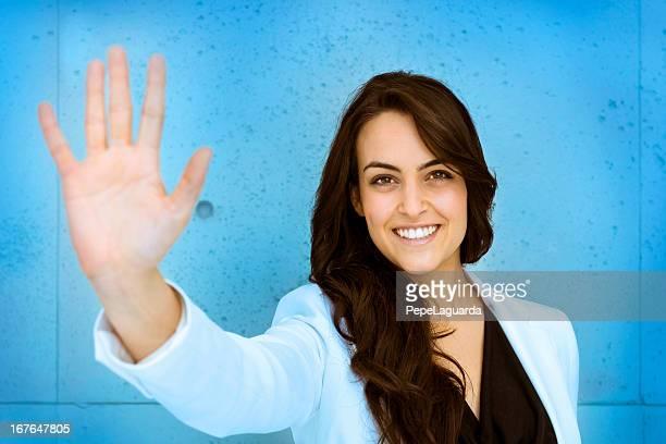 お問い合わせ: 女性手を表示