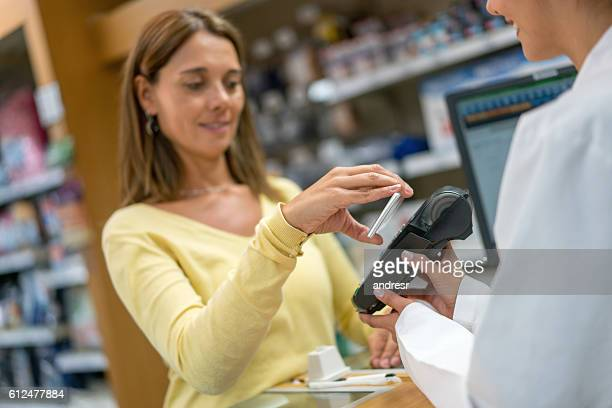 Contactless payment at a pharmacy
