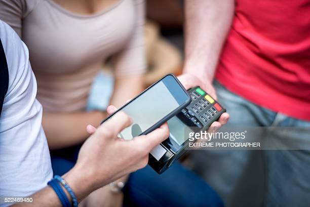 Contactless payment using mobile phone
