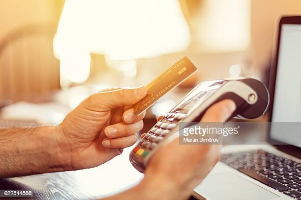 Contactless payment with credit card
