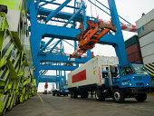 Container LKW, muss die in Versand yard